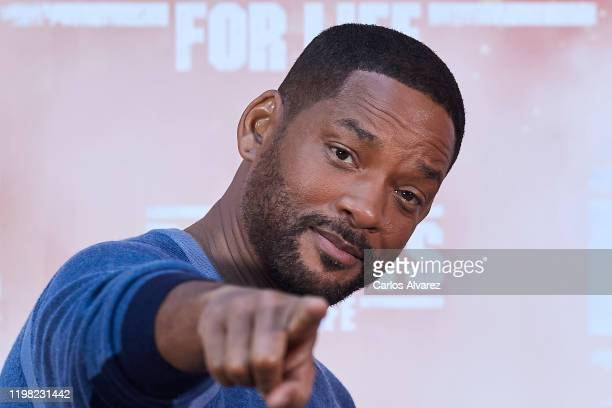 Actor Will Smith attends 'Bad Boys For Life' photocall at the Villamagna Hotel on January 08, 2020 in Madrid, Spain.