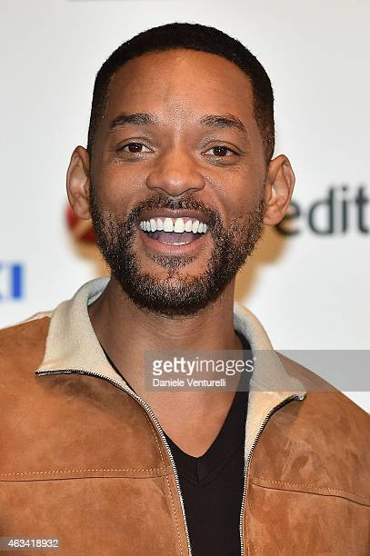 Actor Will Smith attends Sanremo 2015 Day 3 Photocall during the 65th Festival della Canzone Italiana 2015 at Teatro Ariston on February 14, 2015 in...