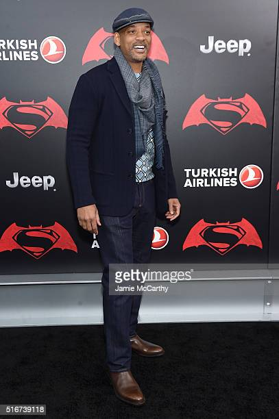 Actor Will Smith attends the Batman V Superman Dawn Of Justice New York Premiere at Radio City Music Hall on March 20 2016 in New York City