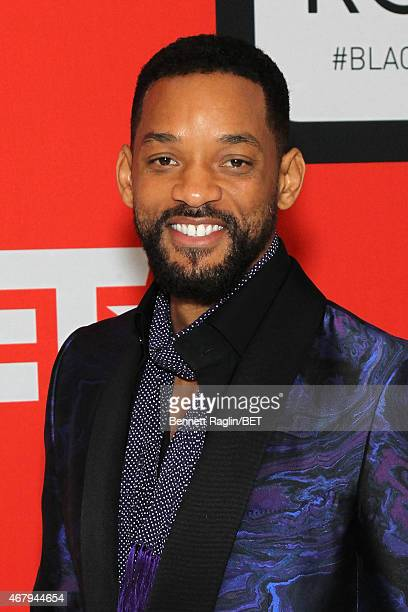 Actor Will Smith attends the BET's Black Girls Rock Red Carpet sponsored by Chevrolet at NJPAC – Prudential Hall on March 28 2015 in Newark New Jersey