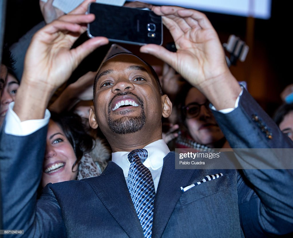 Actor Will Smith attends the Concussion (La Verdad Duele) premiere at Callao City Lights Cinema on January 27, 2016 in Madrid, Spain.