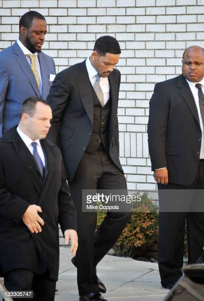 Actor Will Smith attends the funeral service for Heavy D at Grace Baptist Church on November 18 2011 in Mount Vernon New York