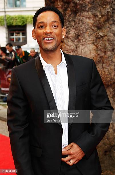 Actor Will Smith attends the Gala Premiere of Hancock at Vue West End Cinema Leicester Square on June 18 2008 in London England