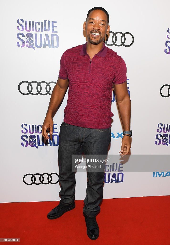 Actor Will Smith attends the grand opening of the 'Suicide Squad' Toronto Belle Reve Penitentiary Fan Experience co-sponsored by Audi at the Fermenting Cellar in the Distillery District on July 26, 2016 in Toronto, Canada.