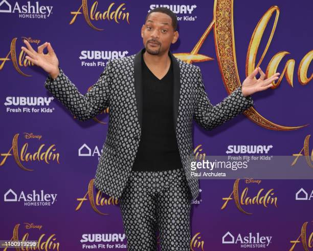 Actor Will Smith attends the premiere of Disney's Aladdin on May 21 2019 in Los Angeles California