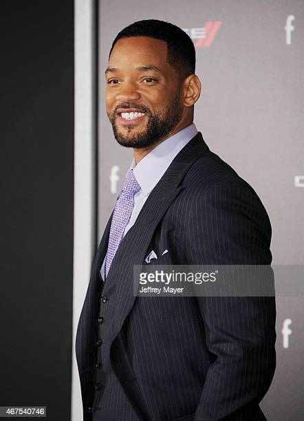 Actor Will Smith attends the Warner Bros Pictures' 'Focus' premiere at TCL Chinese Theatre on February 24 2015 in Hollywood California