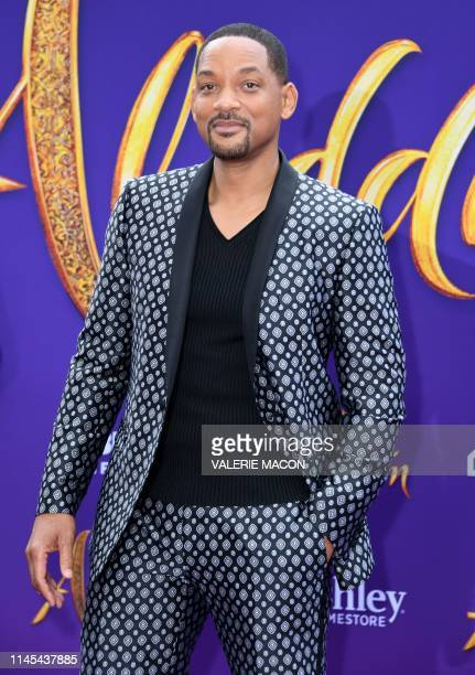 US actor Will Smith attends the World Premiere of Disneys Aladdin at El Capitan theatre on May 21 2019 in Hollywood