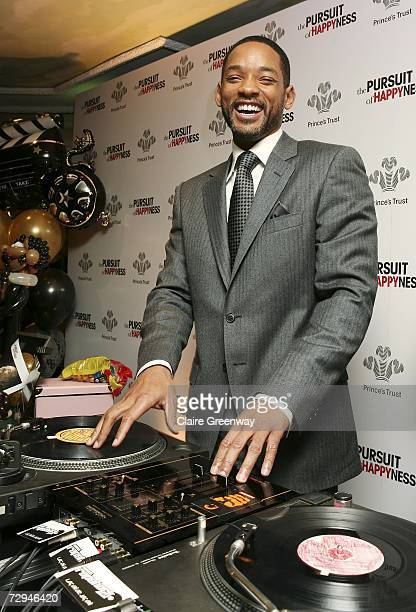Actor Will Smith demonstrates his DJing skills at a charity lunch in aid of The Prince's Trust prior to the UK premiere this evening of The Pursuit...