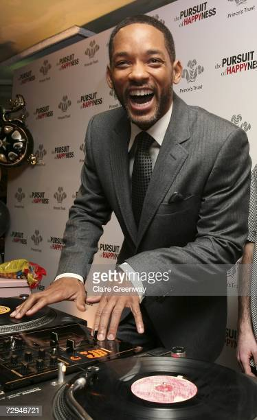 "Actor Will Smith demonstrates his DJing skills at a charity lunch in aid of The Prince's Trust prior to the UK premiere this evening of ""The Pursuit..."