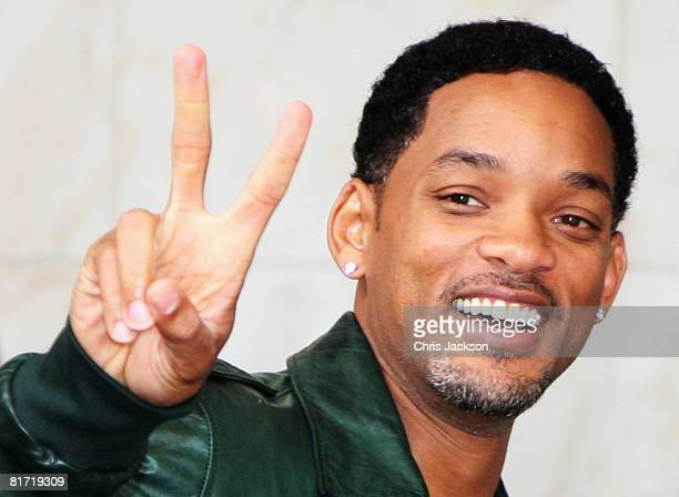 Actor Will Smith leaves the InterContinental Hotel after a photoshoot with celebrity photographer Terry O'Neil on June 26, 2008 in London, England....