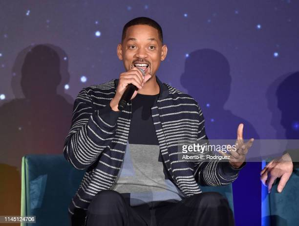 Actor Will Smith participates in the US press conference for Aladdin in Los Angeles CA on May 19 2019