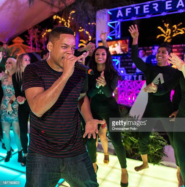 Actor Will Smith performs at the After Earth party at The 5th Annual Summer Of Sony at the Ritz Carlton Hotel on April 23 2013 in Cancun Mexico