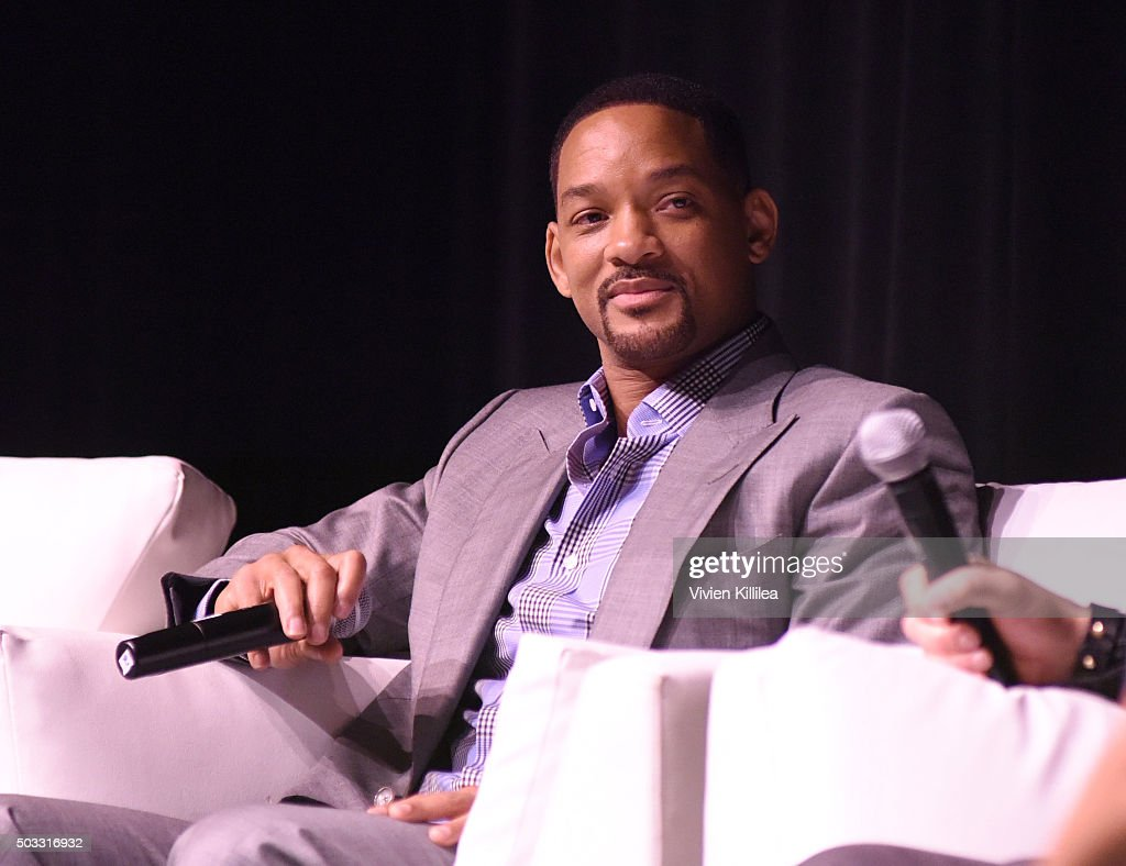 Actor Will Smith speaks at a screening of 'Concussion' at the 27th Annual Palm Springs International Film Festival on January 3, 2016 in Palm Springs, California.