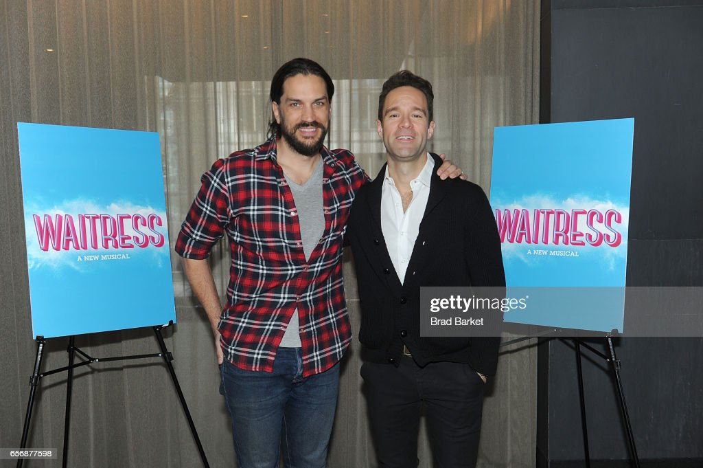 Waitress new cast meet greet10 pictures actor will swensonl and chirs diamantopoulos attend the waitress new cast m4hsunfo