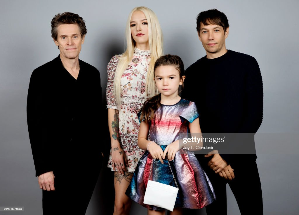 Actor Willem Dafoe, actress Bria Binaite, actress Brooklynn Prince, and director Sean Baker, from the film, 'The Florida Project,' poses for a portrait at the 2017 Toronto International Film Festival for Los Angeles Times on September 10, 2017 in Toronto, Ontario.