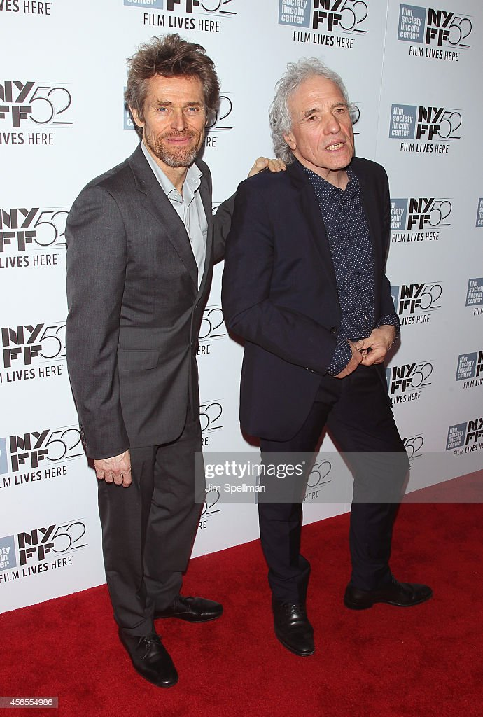 Actor Willem Dafoe and director Abel Ferrara attend the 'Heaven Knows What' Premiere during the 52nd New York Film Festival at Alice Tully Hall on October 2, 2014 in New York City.