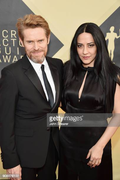 Actor Willem Dafoe and director Giada Colagrande attend the 24th Annual Screen Actors Guild Awards at The Shrine Auditorium on January 21, 2018 in...
