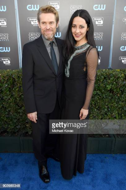 Actor Willem Dafoe and Giada Colagrande attend the 23rd Annual Critics' Choice Awards on January 11 2018 in Santa Monica California