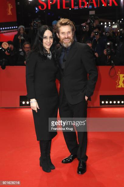 Actor Willem Dafoe and his girlfriend director Giada Colagrande attend the Homage Willem Dafoe Honorary Golden Bear award ceremony and 'The Hunter'...