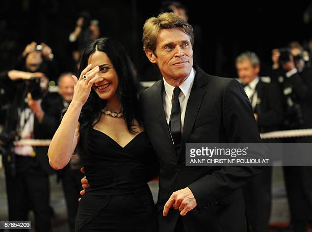 US actor Willem Dafoe and his wife Italian director Giada Colagrande arrive for the screening of his film Vincere in competition at the 62nd Cannes...