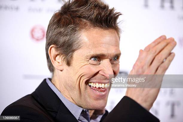 Actor Willem Dafoe arrives at the Australian Premiere of The Hunter on September 26 2011 in Sydney Australia