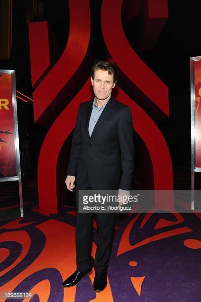 "Actor Willem Dafoe arrives at the Walt Disney Presents ""John Carter"" premiere held at Regal Cinemas L.A. Live on February 22, 2012 in Los Angeles,..."