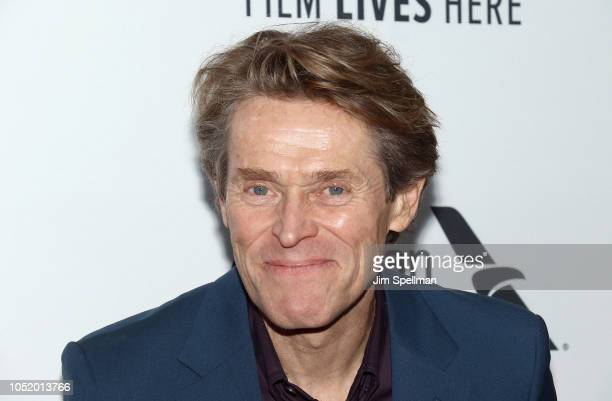 Actor Willem Dafoe attends the 56th New York Film Festival premiere of At Eternity's Gate at Alice Tully Hall Lincoln Center on October 12 2018 in...