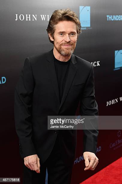 Actor Willem Dafoe attends the John Wick New York Premiere at Regal Union Square Theatre Stadium 14 on October 13 2014 in New York City