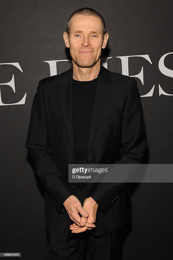 Actor Willem Dafoe attends the Miu Miu Women's Tales 9th Edition 'De Djess' screening on February 18, 2015 in New York City.