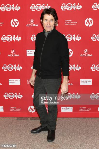 Actor Willem Dafoe attends the premiere of 'A Most Wanted Man' at Eccles Center Theatre during the 2014 Sundance Film Festival on January 19 2014 in...