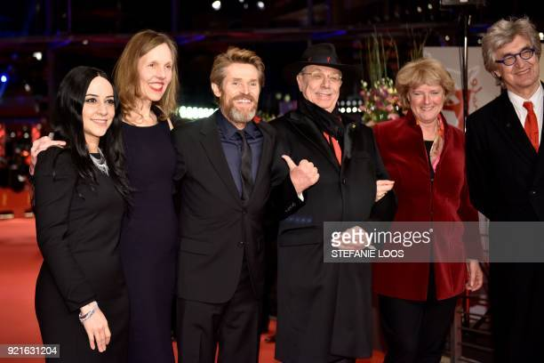 US actor Willem Dafoe his wife Italian director Giada Colagrande US director Wim Wenders and his wife Donata Wenders German State Secretary for...