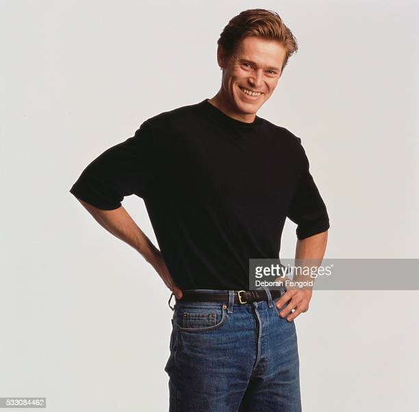 Actor Willem Dafoe in Black Tshirt