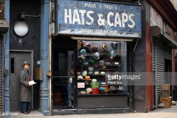Actor Willem Dafoe is seen filming 'Motherless Brooklyn'in Brooklyn on February 15 2018 in New York City