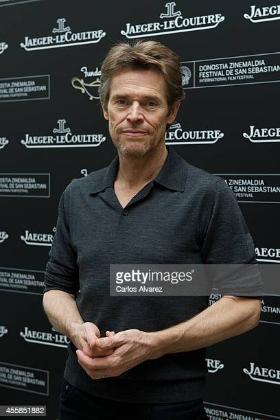 Actor Willem Dafoe is seen posing at the JaeggerLeCoultre stand at the Maria Cristina Hotel during the 62nd San Sebastian International Film Festival...