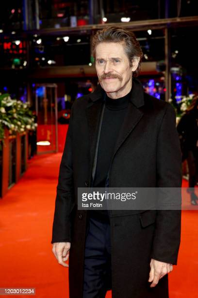 """Actor Willem Dafoe poses at the """"Siberia"""" premiere during the 70th Berlinale International Film Festival Berlin at Berlinale Palace on February 24,..."""