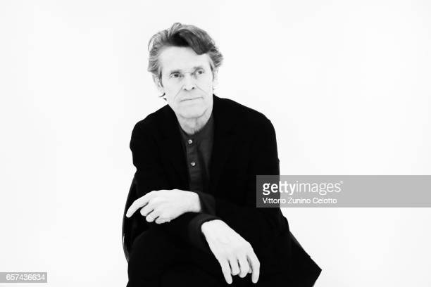 Actor Willem Dafoe poses on March 24 2017 in Milan Italy