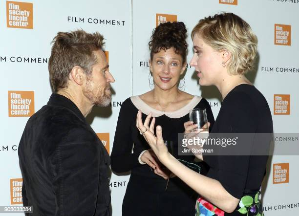 Actor Willem Dafoe writer/director Rebecca Miller and director/actress Greta Gerwig attend the 2018 Film Society of Lincoln Center and Film Comment...