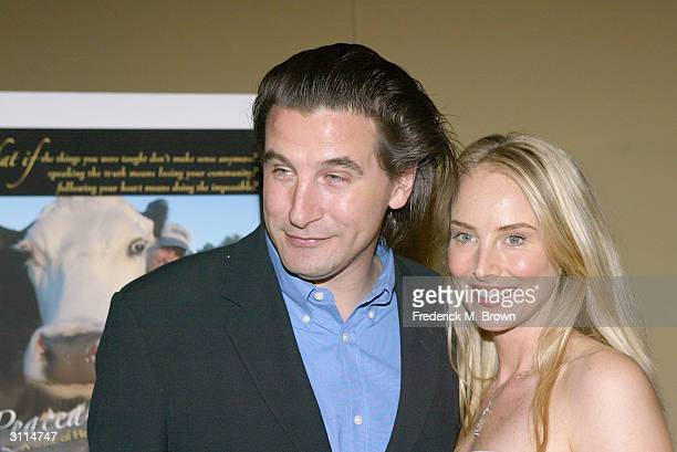 Actor William Baldwin and Chynna Phillips attend the after party for the film Peaceable Kingdom at the Writer's Guild Theater on March 19 2004 in...
