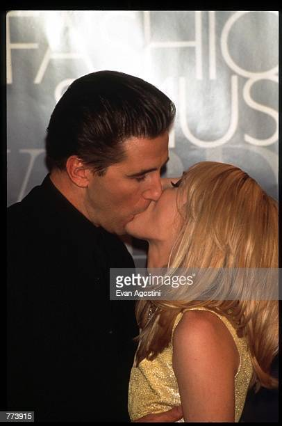 Actor William Baldwin and wife Chynna Phillips kiss at the 1995 VH1 Fashion and Music Awards December 3 1995 in New York City The awards which were...