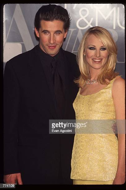 Actor William Baldwin and wife Chynna Phillips stand at the 1995 VH1 Fashion and Music Awards December 3 1995 in New York City The awards show...