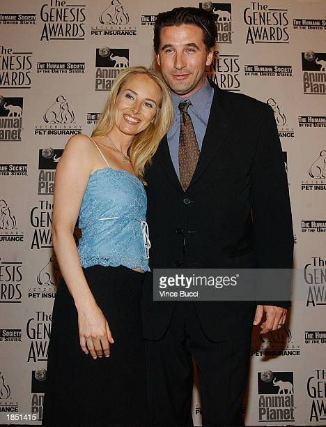 Actor William Baldwin and wife Chynna PhillipsBaldwin attend the 17th Annual Genesis Awards at the Beverly Hilton Hotel on March 15 2003 in Beverly...