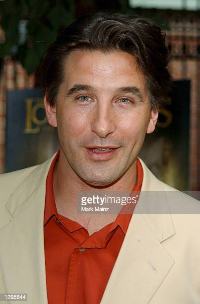 Actor William Baldwin arrives for the DVD launch of Lord of the Rings The Fellowship of the Ring on August 5 2002 at the Boathouse in Central Park in...