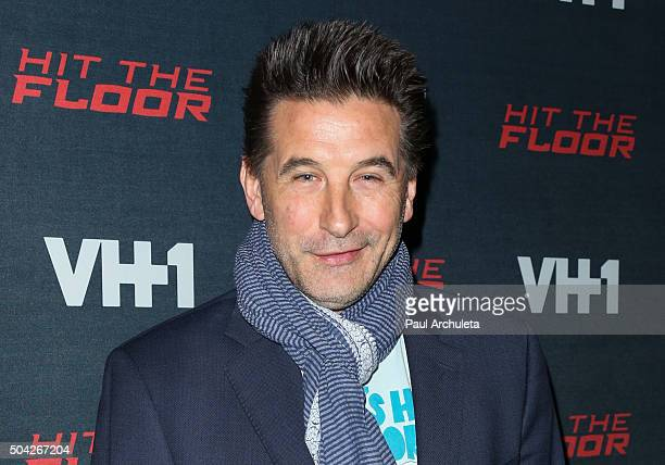 Actor William Baldwin attends the premiere of VH1's Hit The Floor Season 3 at The Paramount Theater on the Paramount Studios lot on January 9 2016 in...