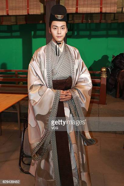 """Actor William Chan Wai-ting poses during the interviews at the shooting site of ancient costume TV drama """"Lost Love in Times"""" on December 12, 2016 in..."""