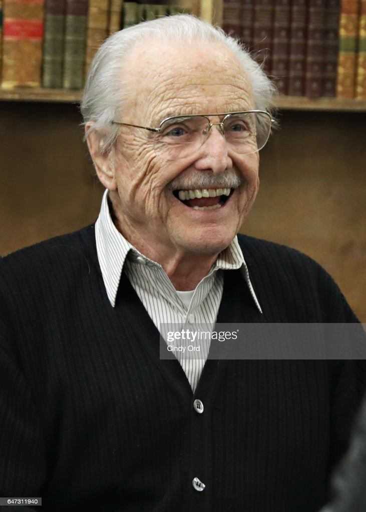 Actor William Daniels signs copies of 'There I Go Again: How I Came To Be Mr. Feeny, John Adams, Dr. Craig, KITT and Many Others' at Strand Bookstore on March 2, 2017 in New York City.