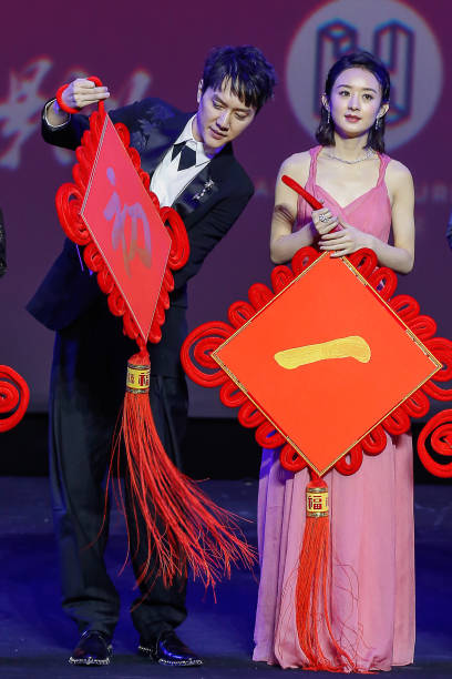 CHN: Actress Zhao Liying And Actor Feng Shaofeng
