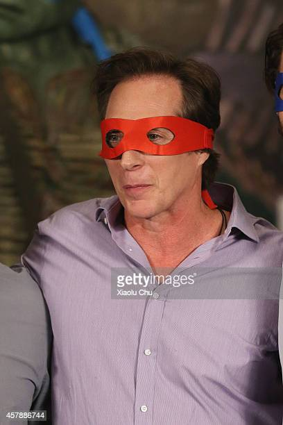 Actor William Fichtner attends the Press Conference for 'Teenage Mutant Ninja Turtles' in advance of the Chinese Premiere at the ShangriLa Hotel on...