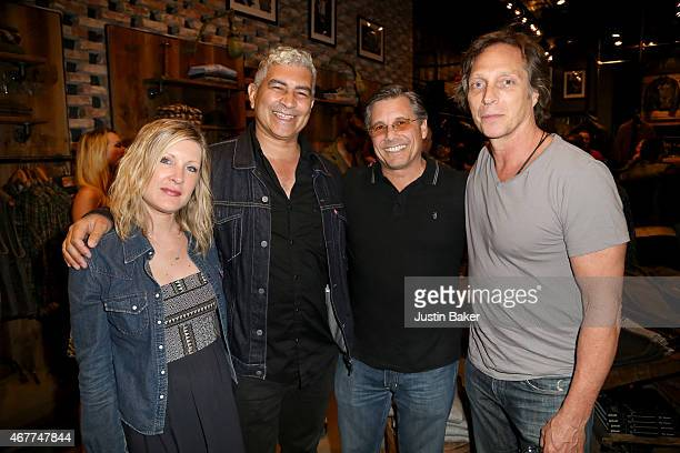 Actor William Fichtner Kevin Mazur Guitarist Pat Smear and guest attend A Tribute To Rock Roll hosted by Schott NYC Featuring Photographs from...
