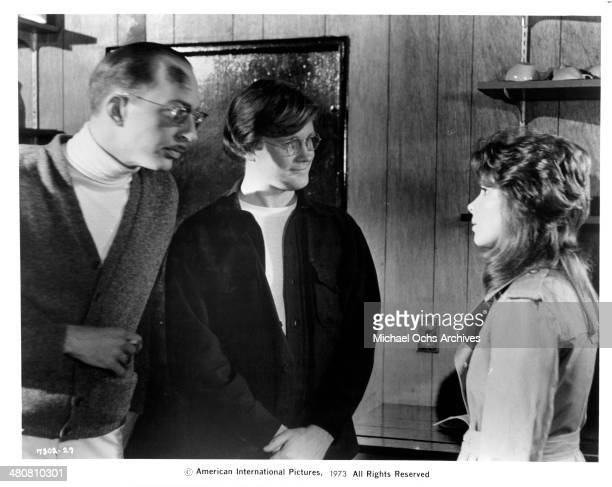 Actor William Finley and actress Jennifer Salt in a scene from the movie Sisters circa 1973