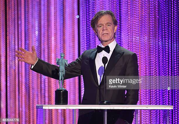 Actor William H Macy accepts Outstanding Performance by a Male Actor in a Comedy Series for 'Shameless' onstage during The 23rd Annual Screen Actors...
